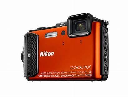 W300 Nikon Coolpix Orange