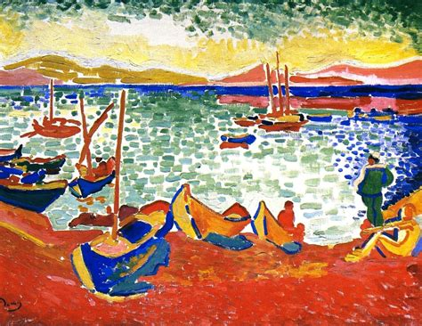 The Boat Matisse by Boats In The Port Of Collioure By Andre Derain