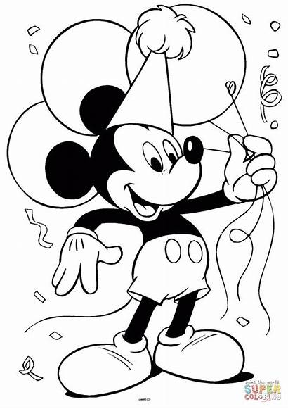 Ausmalbilder Micky Mouse Coloring Maus Supercoloring Mickey
