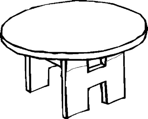 table coloring clipart