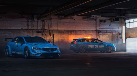 wallpaper volvo  polestar wtcc safety car cars