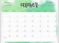 34 October 2018 Calendar Cute timeiumcom