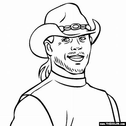 Wwe Coloring Shawn Michaels Pages Wrestler Wrestling