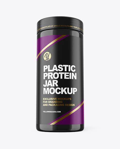 Plastic protein jar mockup 3l. Glossy Protein Jar Mockup | Exclusive Mockups
