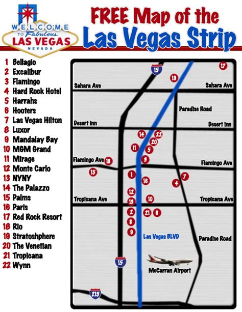 map   las vegas strip las vegas strip map vidiani