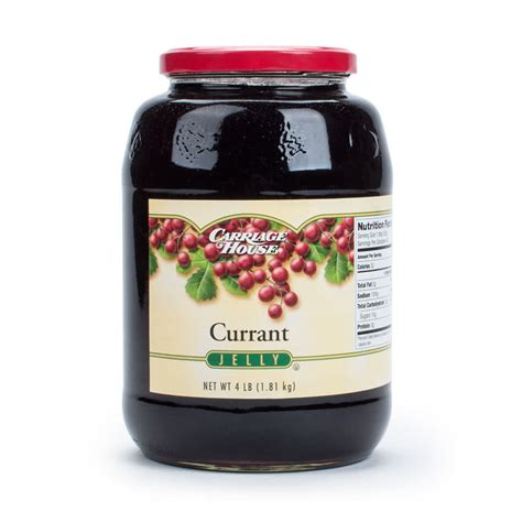 currant jelly currant jelly 6 4 lb glass jars case 6 case