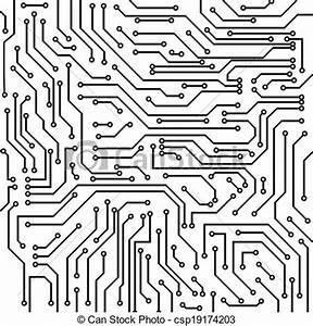 black and white circuit board clipart clipground With circuit board art