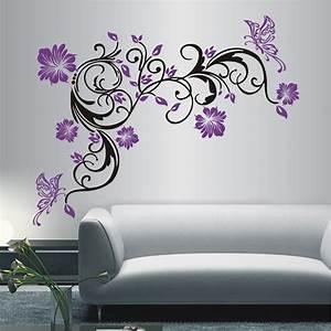 Blumen Deko Wohnzimmer : deko shop wandtattoo blumenranke 2 farbig deko shop ~ Indierocktalk.com Haus und Dekorationen