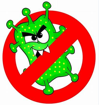 Germs Clipart Viruses Sign Permitted Vector Help