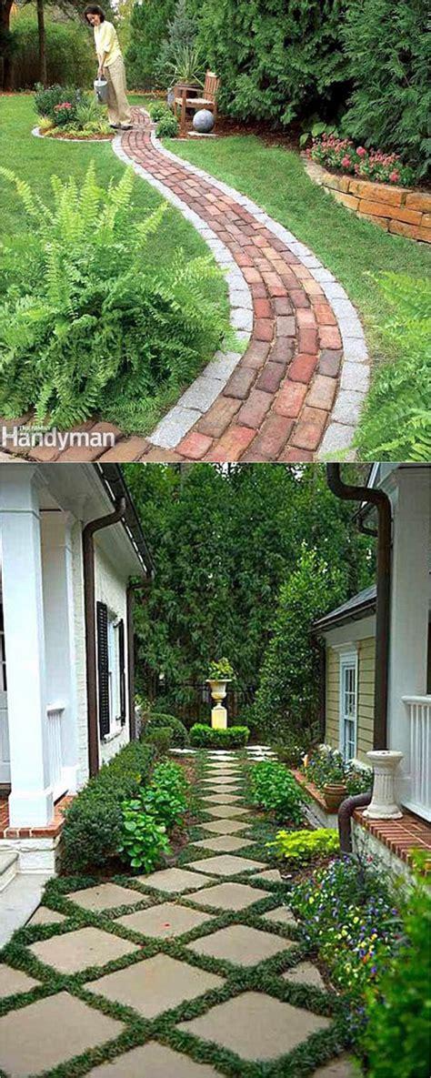 Backyard Walkway Ideas by 25 Most Beautiful Diy Garden Path Ideas A Of Rainbow