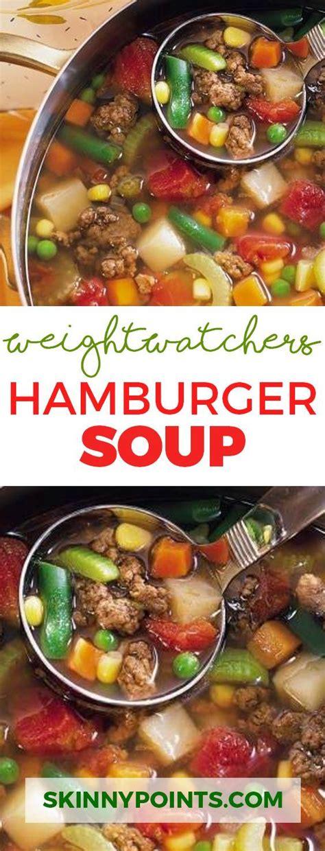 hamburger soup smartpoints   weight watchers