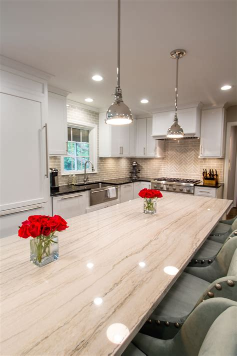 white quartzite countertops white macaubas quartzite countertop ccff kitchen islands