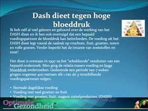 bloeddruk dieet