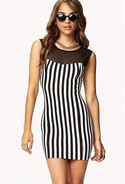 Vertical Lines Stripes Dresses Waist Striped Bodycon