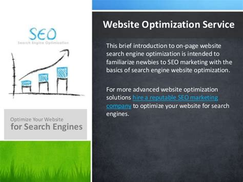 Web Search Optimization by Intro Guide To Website Search Optimization Seo Basics