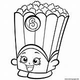 Coloring Shopkins Box Poppy Popcorn Corn Pages Season Printable sketch template
