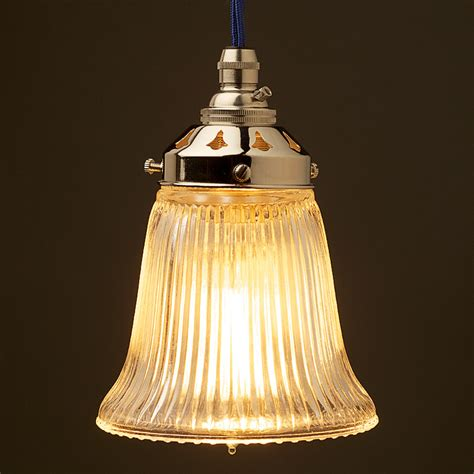 glass light shades bell shaped holophane glass light shade
