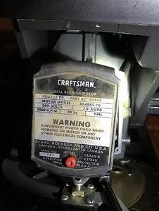 Craftsman 12 U0026quot  Radial Arm Saw Electrical Problem