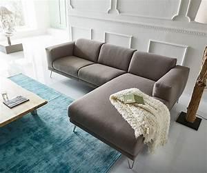 Sofa Ottomane : ecksofa lordina 260x185 grau ottomane rechts premium m bel ~ Pilothousefishingboats.com Haus und Dekorationen