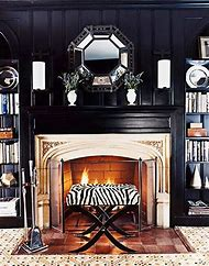 Black Fireplace Walls