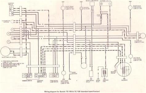Wiring Diagram Suzuki 150 by Original Suzuki Ts Tc Tm Forum Suzuki Ts100 Tc100
