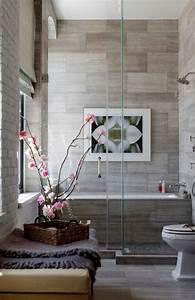 Contemporary, Bathroom, Ideas, Marble, Tile, Shower, Glass, Doors
