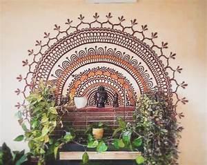 25 basta mandala mural ideerna pa pinterest pochoirs With pochoir mural a peindre