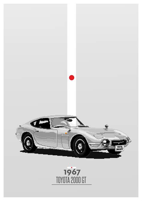 1967 Pixel Handcrafted Toyota 2000GT #1967 #japan #cars #