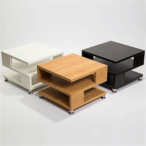 If your coffee table with storage has an open shelf, consider displaying vases or sculptures as a decorative. White/Black/Oak Square Coffee Table Storage Wood Living Room Small Furniture | eBay