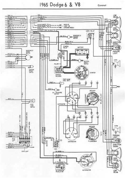 1993 Dodge Truck Dash Wiring Diagram by 1965 Wiring Diagram Vintage Dodge Coronet2 Bob S Garage