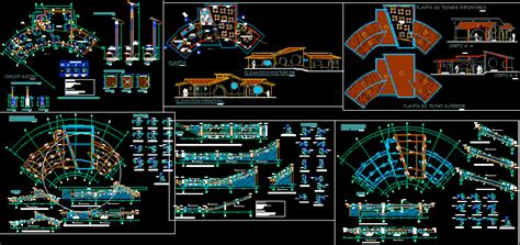 coffee bar  dwg full project  autocad designs cad