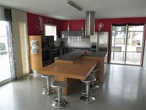 Table Cuisine étroite : cuisine quip e avec lot central ~ Teatrodelosmanantiales.com Idées de Décoration