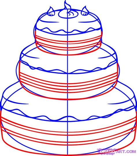 How To Draw A Cake, Step By Step, Food, Pop Culture, Free