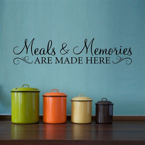 meals memories decal kitchen quote wall decal meals