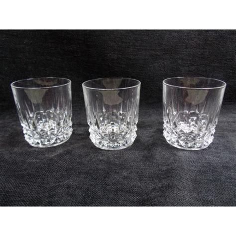 lot de 3 verres 224 whisky en cristal d arques brocante lestrouvaillesdecaroline