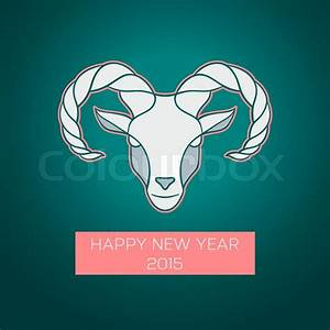 Vector illustration of The goat is a symbol of 2015