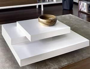 Table Basse Blanche Design : collection de tables basses modernes tr s chics la perle rose ~ Teatrodelosmanantiales.com Idées de Décoration