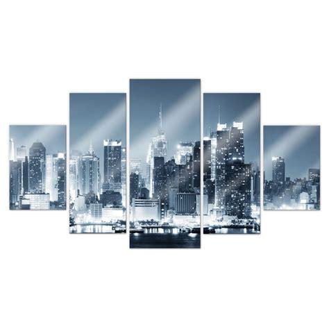 teiliges acrylglas set  york  night  wall artde