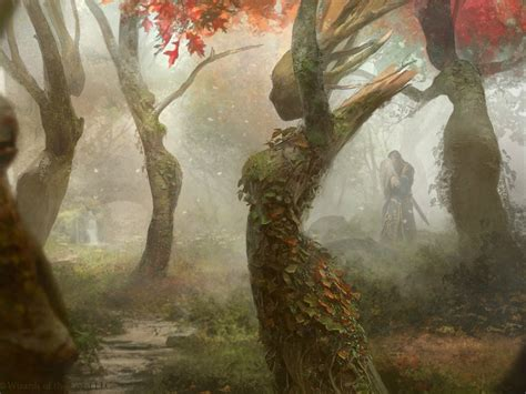 trees forest fantasy art artwork wallpaper allwallpaper