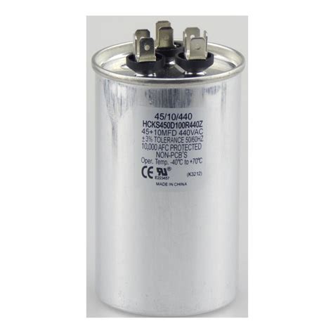 fan capacitor home depot tradepro 440 volt 45 10 mfd dual rated motor run round