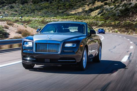 2018 Rolls Royce Wraith Driver Front Three Quarters Action