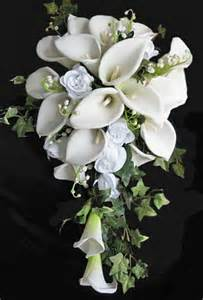 baby s breath bouquet white calla lilies and roses bouquet