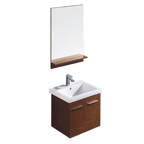 drop in sink vanity top shop vigo wenge drop in single sink bathroom vanity with