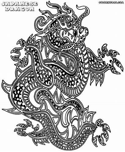 Dragon Japanese Coloring Pages Colorings
