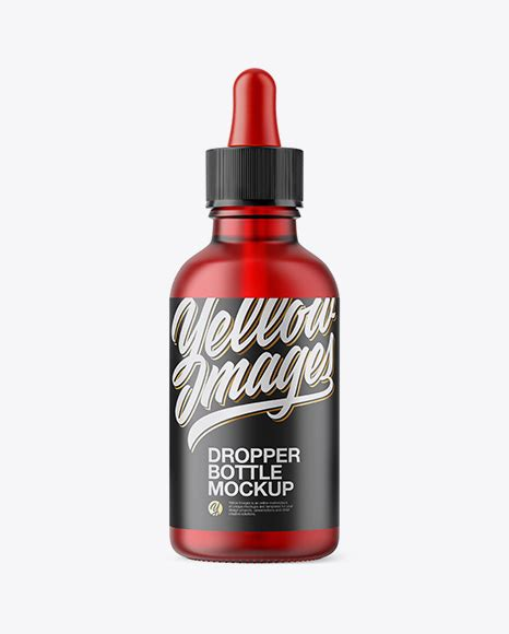 Download this free photoshop from the original source of vectogravic. 50ml Frosted Red Glass Dropper Bottle in Bottle Mockups on ...