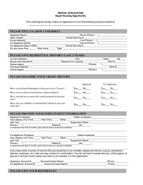 property blank lease agreement form  property