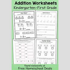Free Addition Worksheets K1 (instant Download)  Fun With Learning  Homeschooling Free