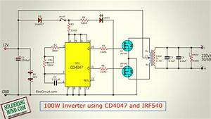 Cd4047be Inverter Circuit