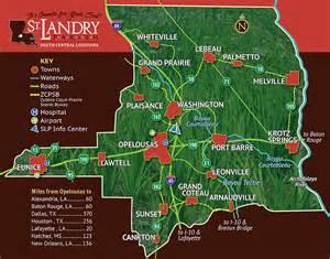 St. Landry Parish Louisiana Map
