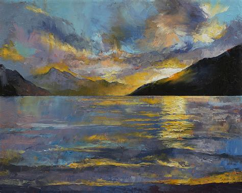 New Zealand Sunset Painting By Michael Creese